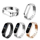 Bakeey Buckle Tipo Reloj completo de acero inoxidable Banda Correa de reloj para Xiaomi Miband 5 Miband 5 NFC No original
