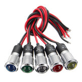 12V 14mm Color Dual LED Indicador del Panel Piloto del Tablero Indicador Luz de Advertencia