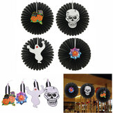 Halloween Paper Fan Wall Hanging Decoration Party Home Decor Prezenty Ghost Pumpkin