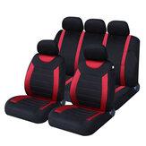 9 PCS Universal Couro Deluxe Car Cover Assento Protetor Almofada Frente Tampas Traseiras