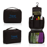 Mens Travel Hanging Toiletry Wash Shower Bag Organizer Kit Case Black&Blue