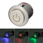 12v 10a 22mm LED autolock puissance-poussoir de bouton ON / OFF 3 couleurs