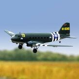 Dynam C47 Skytrain Green V2 1470mm Wingspan EPO Twin Engine RC Airplane Beginner PNP