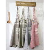 Japanese Cotton Striped Patchwork Kitchen Aprons Dress
