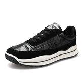 Hombres Sport Down Cloth Antideslizante Soft Sole Zapatos para correr casuales