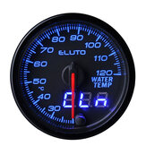 Eluto Universal Water Temperature Gauge Digital 10-color LED Display Car Meter 2inch 52mm