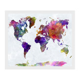 50x35 cm Retro World Map Canvas Painting Print Imagen de Papel de Pared Decoración Del Hogar Sin Marco