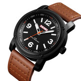SKMEI 1417 Leather Men Quartz Watch