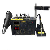 SAIKE 852D++ 110V/220V 2 In 1 SMD Rework Station Hot Air Nozzle Soldering Station Desoldering Station