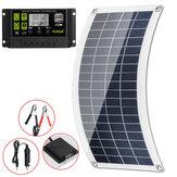 Kit de panneau solaire 80W 12V 10/20/30A LCD contrôleur Batterie chargeur batterie externe Camping voyage en plein air