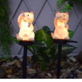 Solar Power LED Cat Lawn Light Outdoor Waterproof Garden Yard Landscape Lamp Christmas Decorations Lights