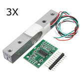 3Pcs 5KG Small Scale Load Cell Wiegen Drucksensor mit A / D HX711AD Adapter
