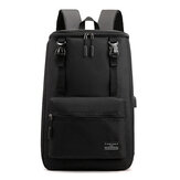 17 inch Laptop Bag with USB Charging Port  Shoulder Bag Classic Business Outdoor Stylish Backpack Travel Storage Bag