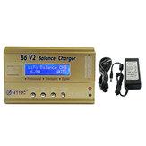 HTRC B6 V2 80W 6A Digital Bateria carregador de equilíbrio com fonte de alimentação
