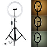 12 Inch 30cm 3000K-5500K Dimmable Remote Control LED Ring Light  3-Colors Modes Fill Light with 163cm Tripod Mount and Phone Holder