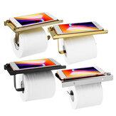 Porta rotolo di carta igienica a parete con portaoggetti per riporre il telefono