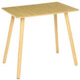 ログカラースクエアテーブルノルディックダイニングテーブルndチェアホームシンプルモダンスモールアパートメント長方形テーブル
