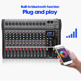 12 Channels Live Studio Audio Mixer Amplifier Professional USB Mixing Bluetooth