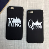 King And Queen Matte Soft Protector de TPU Caso para iPhone 7/8