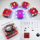 3 Adet Geekcreit® DIY Sarsıcı Kırmızı LED Dice Kit Küçük Vibrasyonlu Motor