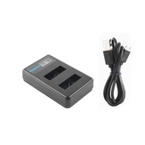 Ruigpro LCD Dual Battery Charger for Gopro Hero8/7/6/5/4 SJcam 8 Sport Camera Accessories
