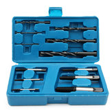 12pc Screw Extractor and Drill Bit Guide Set Broken Bolt Fastener Remover