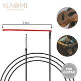 NAOMI 10pcs Folk Guitar Bridge Piezo Pickups Cabo Guitarra acústica Soft EQ Pickup Varanda Peças de guitarra