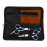 5PCS Professional Hair Cutting Scissors Set Portable Hair Trimmer W/ Storage Case