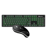 Silent 2.4GHz Wireless Backlit Keyboard and Mouse Combo Set for Desktop Computer Laptops