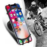 Udyr Universal Elastic resistente ao desgaste Silicone Guiador da bicicleta Suporte do telefone móvel Suporte para dispositivos entre 4,0 e 6,3 polegadas