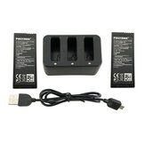 3-в-1 Баланс USB-зарядное устройство с 2PCS 3.8V 1100mah Lithium Батарея для DJI Ryze Tello RC Дрон