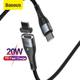 Baseus 20W Zinc Magnetic USB-C to Lightning PD Cable Power Delivery Fast Charging Data Sync Cord Line Nylon Braided For iPhone 12 12 Mini 12 Pro Max For iPhone 11 11 Pro For iPad 2020