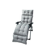 Deck Chair Cushion Soft Tufted Lounge Sofa Recliner Cushion Outdoor Indoor Bench Garden Recliner Pad