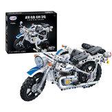 550 pezzi 1: 8 7061 3D tre ruote modello di moto fai da te assemblato a mano Meccanico blocchi tecnologici giocattolo educativo per bambini