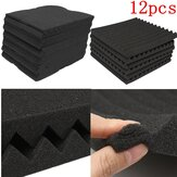 12Pcs Acoustic Soundproof Foam Sound Stop Absorption for KTV Audio Room