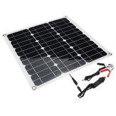 Portátil 40 W 12 V / 5V Painel Solar Bateria DC / USB Carregador Para RV Boat Camping Viajar