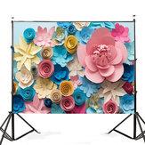 7x5FT Colorful flor fotografia pano de fundo estúdio prop fundo