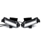 White+ Amber Daytime Running Lights Car Lights LED For 2016-2018 Chevy Camaro ZL1 1LT RS DRL Car Fog Lights LED Clear Lens