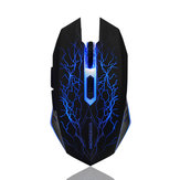 1600DPI 2.4GHz Wireless Silent Mute Rechargeable Gaming Mouse Wireless Charging Game for PC Laptop Office