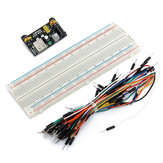 65PCS Jumper Kabel + MB102 Voedingsmodule 3.3V 5V + Breadboard Board 830 Point