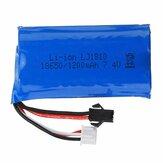 HS 18650 7.4V 1200mAh 2S 25C Li-ion Battery Anti Reverse Plug for 18301 18302 18311 18312 Rc Car