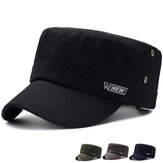 Men Women Vogue Cotton Solid Color Wild Flat Hats
