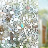 90x100 cm Anti-UV privacidad cubierta adhesiva estática teñida esmerilada 3D pegatina de película de vidrio para ventana decoración del hogar