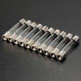 10個2A-25Aアンプガラスクイックブロー高速動作ヒューズ6.3mm x 30mm