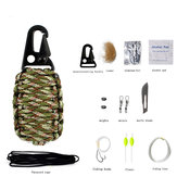 EDC Paracord Multifunction Survival Kit Rescue Gear Keychain with Fishing Camping Tools