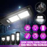 500W 1000W 1500W 2500W 150/462/748/924 LED Solar Power Street Light PIR Motion Sensor Wall Lamp+Remote Control