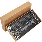 Multifunction Ratcheting Socket Wrench Set Metric with Adapter Socket Screwdriver