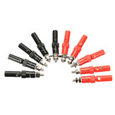 DANIU 10 Pairs 4mm Terminal Banana Plug Socket Jack Connectors Instrument Light Tools Hitam and Merah