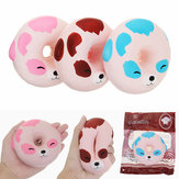 YunXin Squishy Puppy Dog Doughnut 10cm Geurd Soft Slow Rising With Packaging Collection Gift Toy