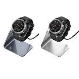 Bakeey Base de charge en alliage d'aluminium Protection de puce de Charge rapide 360 chargeur de montre intelligente tournée pour Garmin F745 / Venu Sq / Fenix 6